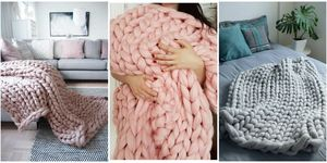 cheap chunky knit blankets