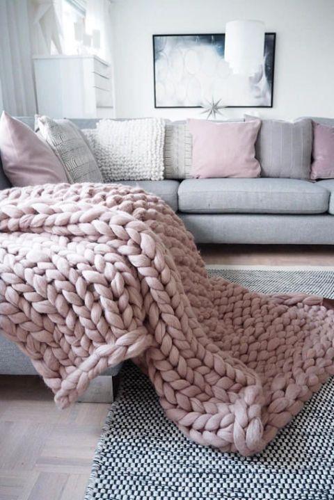 Furniture, Bedroom, Room, Pink, Bedding, Bed sheet, Pillow, Interior design, Crochet, Blanket,