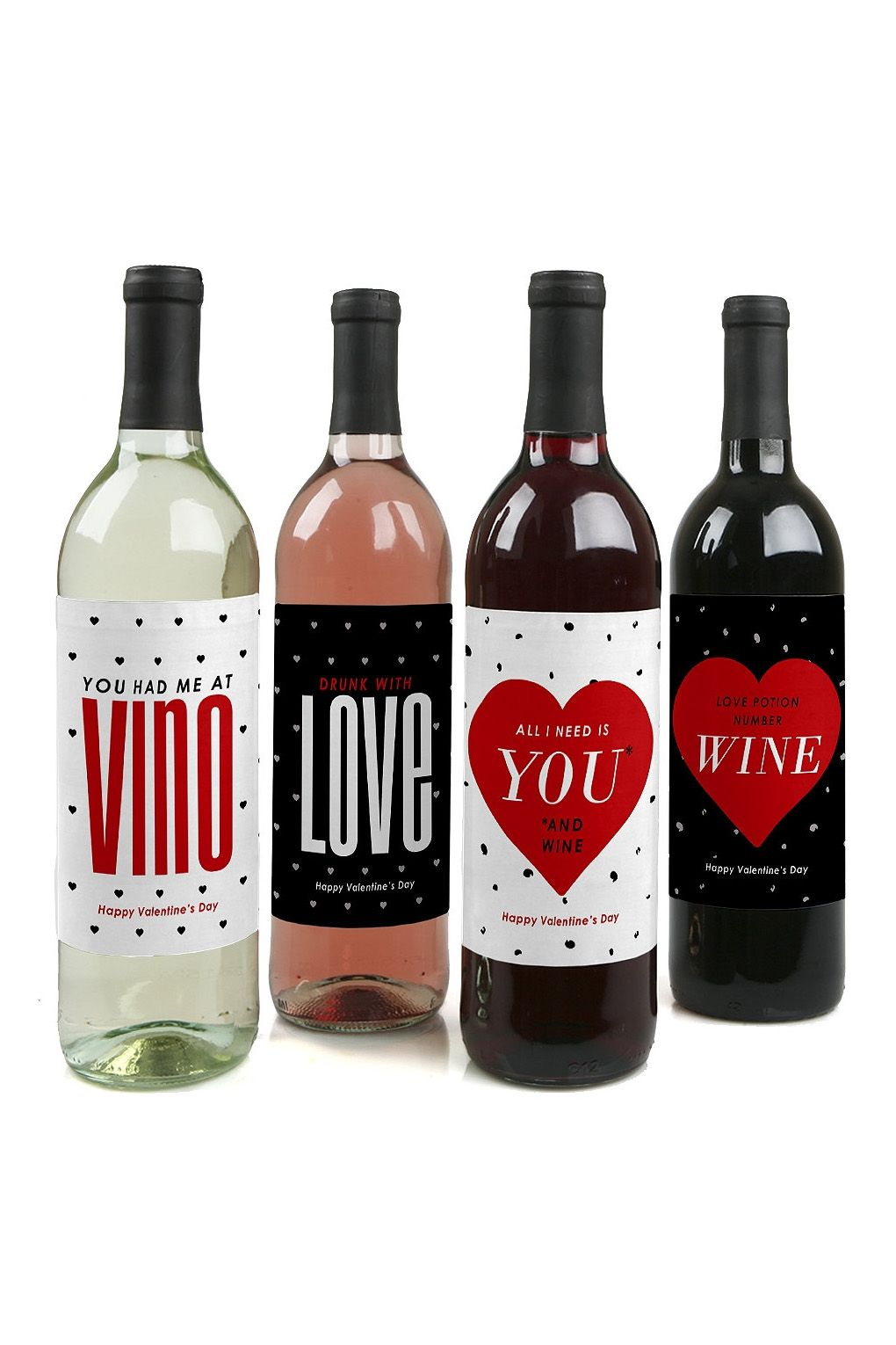 valentine's day wine bottle labels