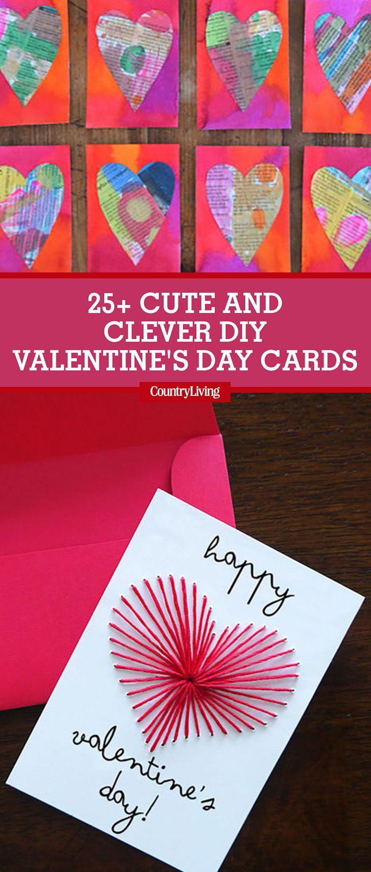 26 diy valentines day cards homemade valentines country living m4hsunfo
