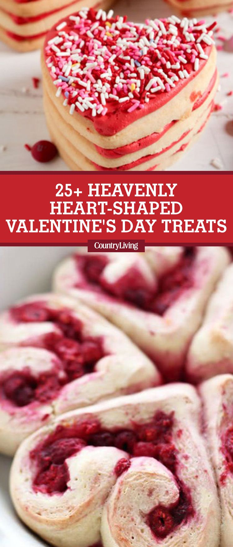 27 Best Heart Shaped Cookies U0026 Desserts   Valentineu0027s Day Treats   Country  Living