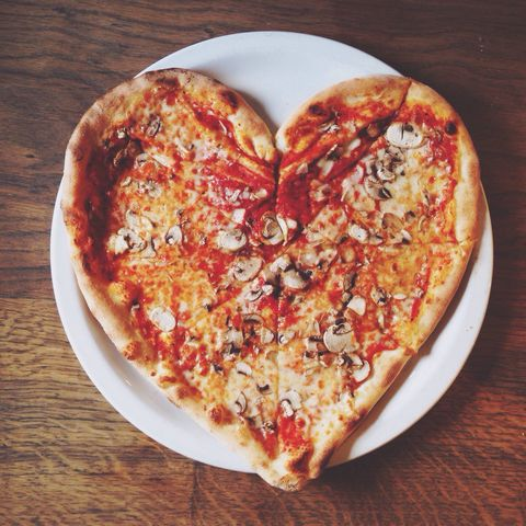dish, food, cuisine, ingredient, pizza, heart, pizza cheese, junk food, baked goods, flatbread,
