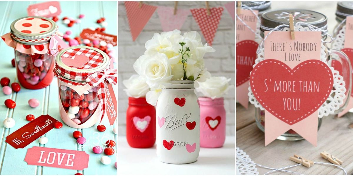 25 cute valentines day mason jars ideas -valentine's day mason jar, Ideas