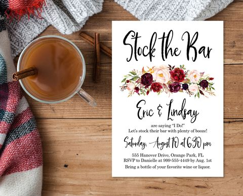 stock the bar bridal shower ideas