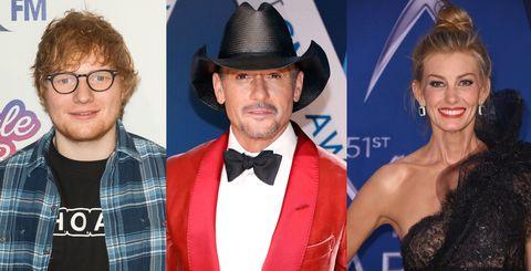 Ed Sheeran, Tim McGraw and Faith Hill