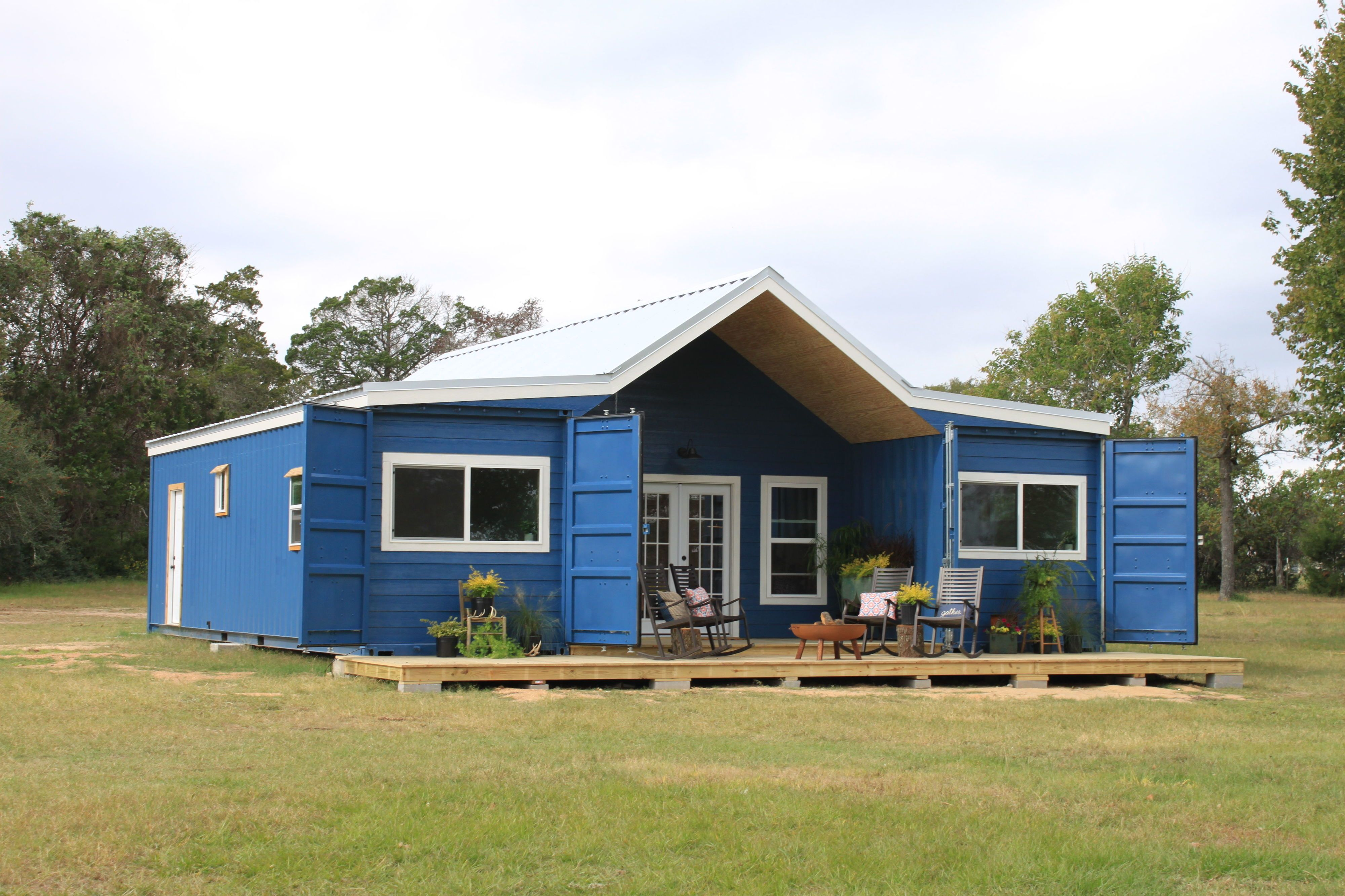 Farmhouse Shipping Container House