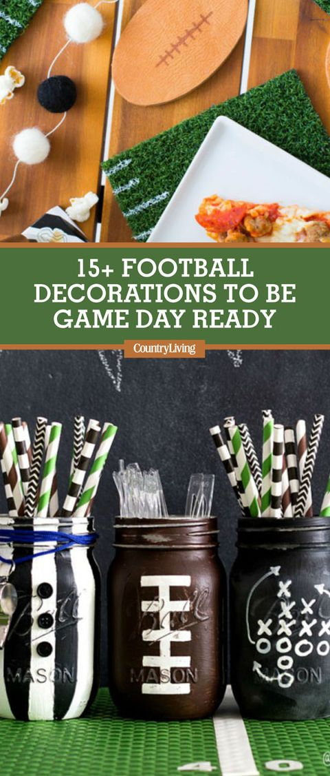15 Best Football Party Decorations Super Bowl Party Decor Ideas
