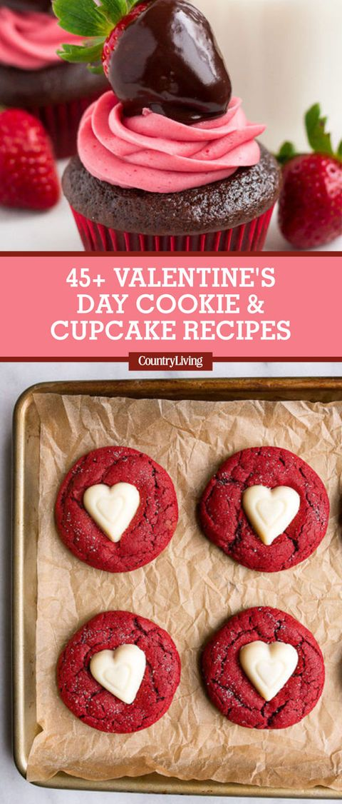 45 Best Valentine\'s Day Cookies and Cupcakes Recipes - Country Living