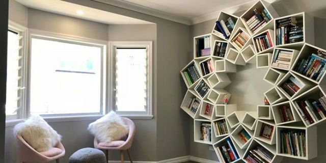 Feast Your Eyes on the Amazing DIY Bookcase This Couple Made for Their Kids