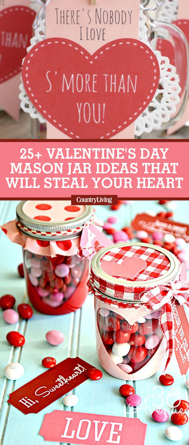 25 Cute Valentines Day Mason Jars Ideas -Valentine\'s Day Mason Jar ...