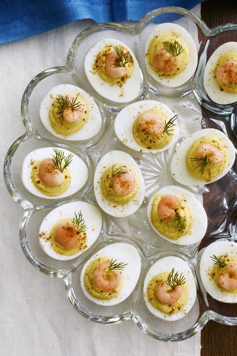 Deviled Eggs with Old Bay Shrimp