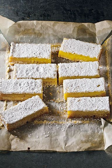 lemon-lavender bars
