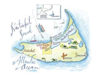 illustrated map of nantucket
