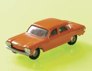 orange 1960s style toy car