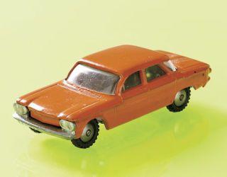 orange 1960s style toy car