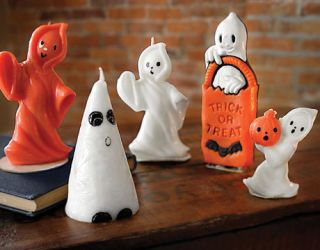Halloween Candles - Vintage Witch and Ghost Halloween Candles