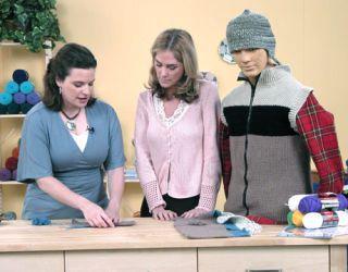 robin crocheting a vest