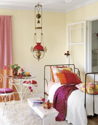 bedroom with bright color