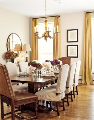 elegant and warm dining room