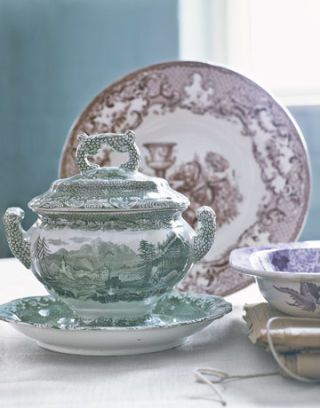 spode tureen and platter