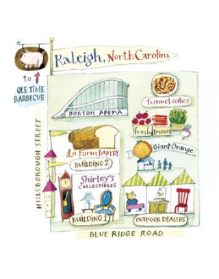 illustrated map of raleigh fairgrounds