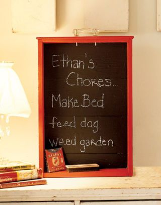 chore chalkboard made of a drawer