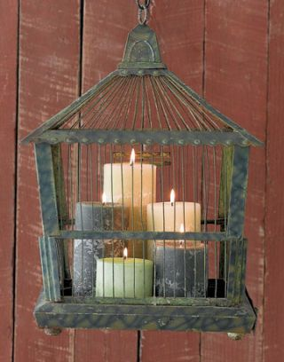 candles in birdcage