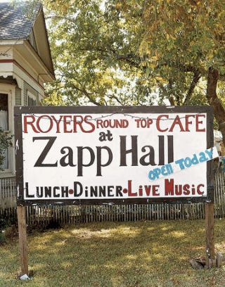 royers round top cafe sign