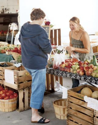 Shopping for Produce at the Traverse City Farmers' Market