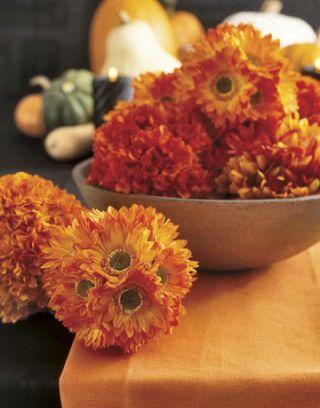 orange flowers in a bowl