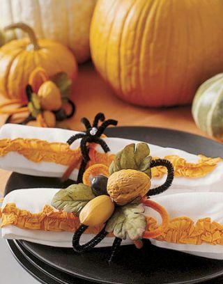 fall themed napkin rings