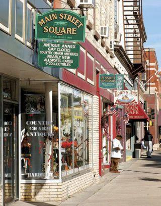 Antique Stores Lining Stillwater, MN's Main Street