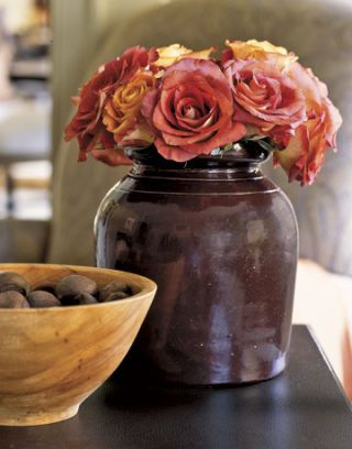 Flower Arrangement in Earthy Shades