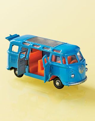 blue toy volks wagon bus