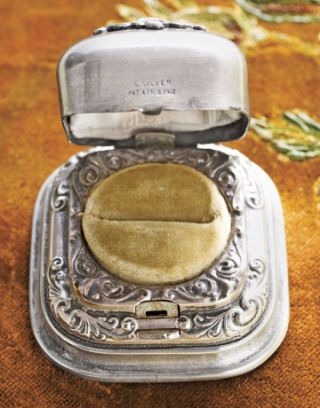 elaborate silver ring box