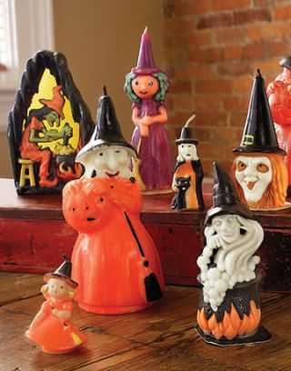 various witch halloween candles