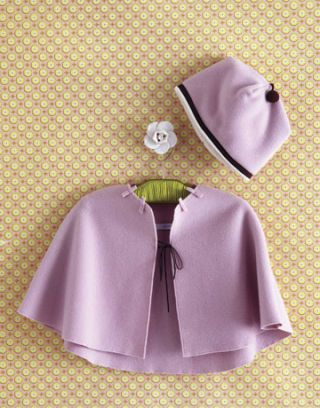 small purple cape and hat for baby