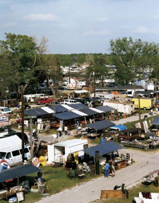 View Of Flea Market From Above