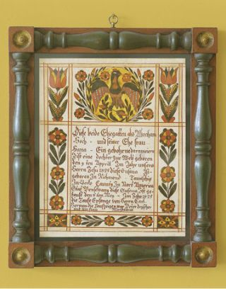 decorative certificate in wood frame