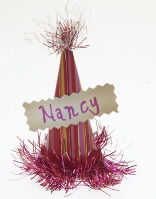 party hat place card