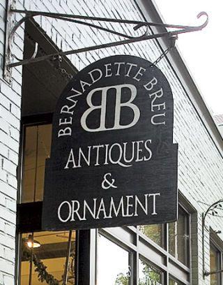 The Sign for Bernadette Breu Antiques & Ornament