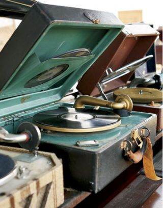 antique record players