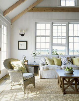 family room ceiling beams
