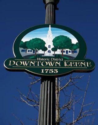 keene town sign