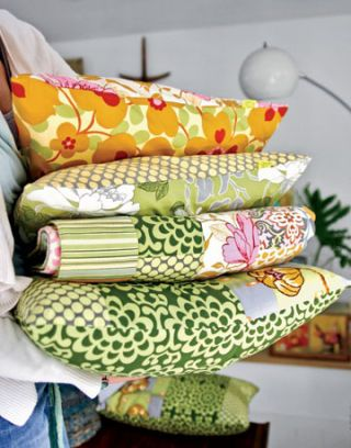 pillows with floral inspired patterns
