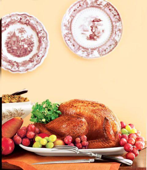 roast turkey with pomegranate sauce