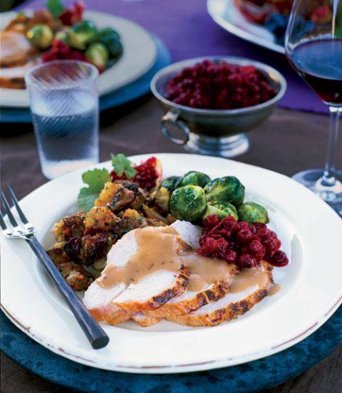 turkey with cranberry gravy