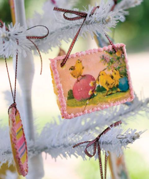 easter cookie ornament on a tree