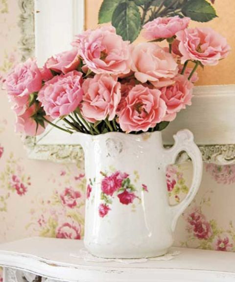 Roses in a Pitcher