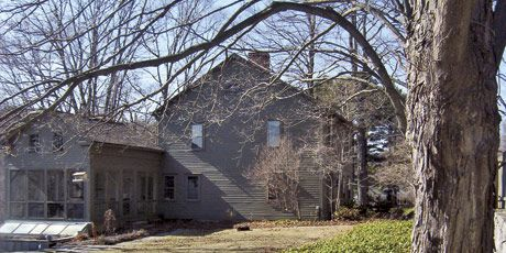 Dark Exterior of Connecticut Home Pre-Renovation
